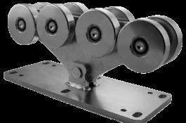 SPEED L - Carucior pe opt roti pentru poarta autoportanta in consola
