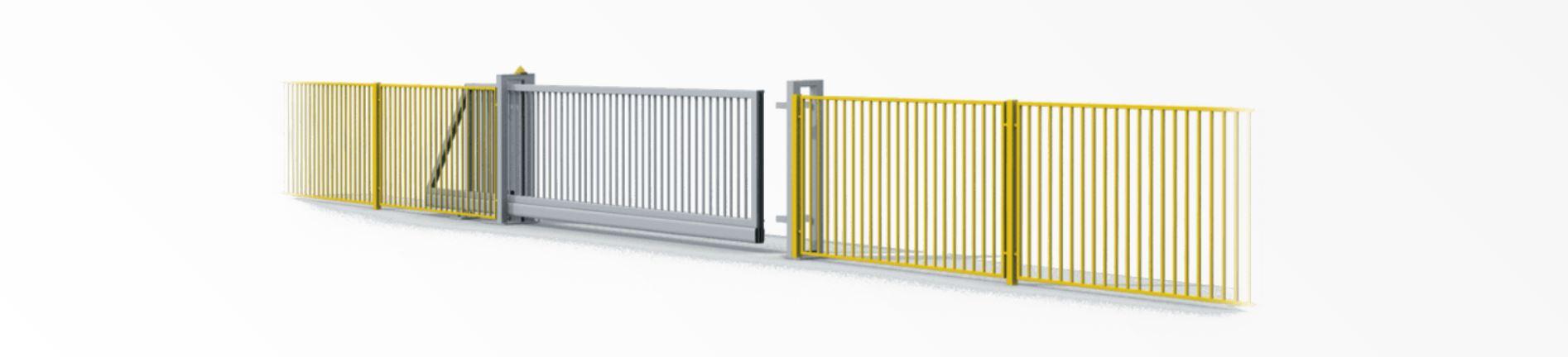 poarta industriala autoportanta cu gard metalic industrial realizat de smilo holding