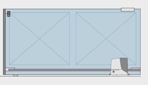 Desen poarta culisanta automatizata