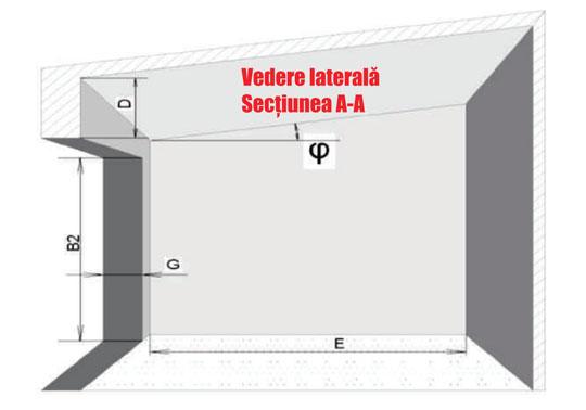Vedere laterala montaj usa de garaj